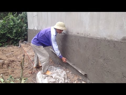 Amazing Techniques Construction Rendering Outside Wall - How To Render Brick Using Sand And Cement