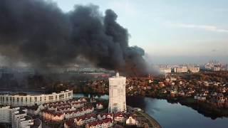 """Пожар в торговом центре """"Синдика"""" - 65 км МКАД 8.10.17"""
