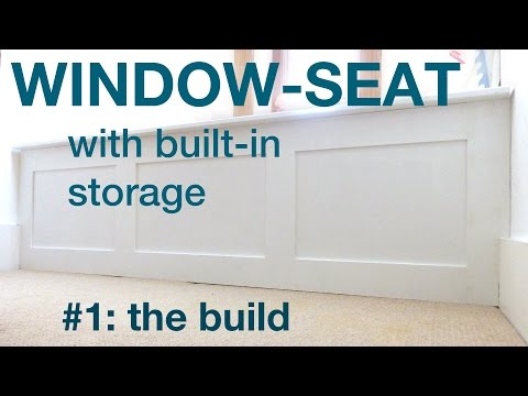 How to make a window seat with storage