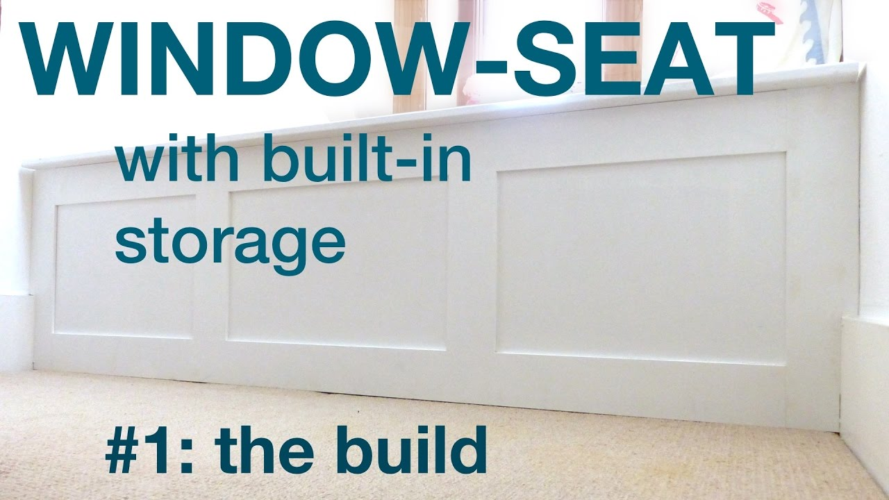 how to build a window seat with storage