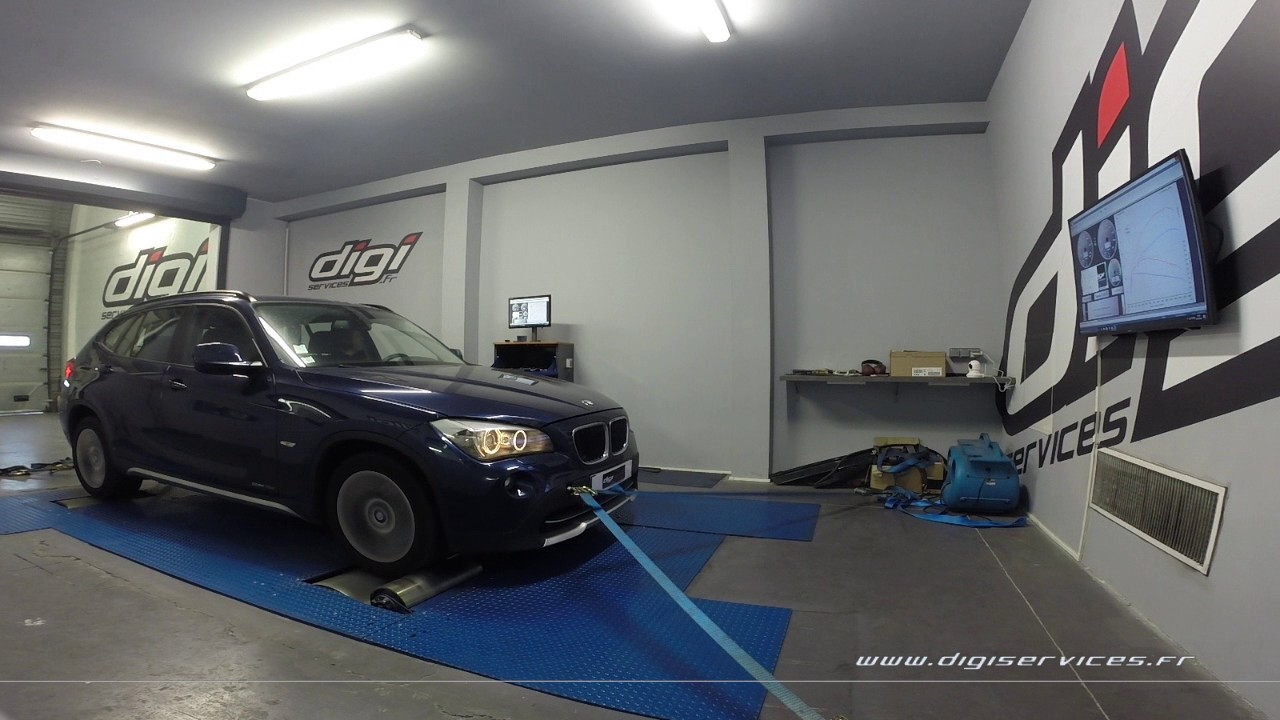 bmw x1 18d 136cv reprogrammation moteur 177cv digiservices paris 77 dyno youtube. Black Bedroom Furniture Sets. Home Design Ideas