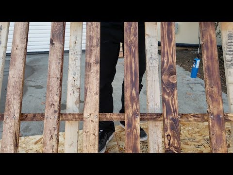 How to burn and stain pallets for diy projects