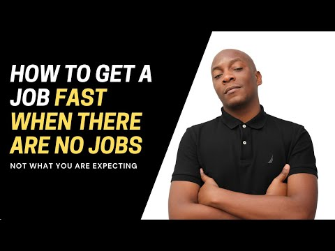How to find a job in South Africa when there are no jobs