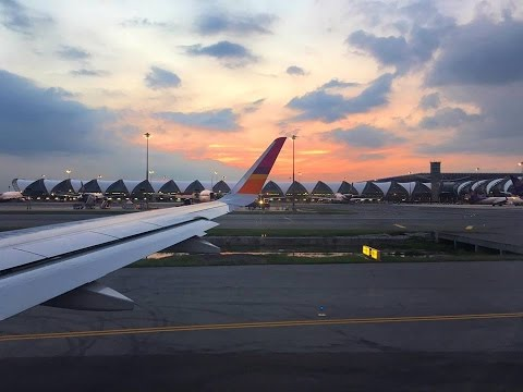 Thai Smile Takeoff from Suvarnabhumi Airport [HD]