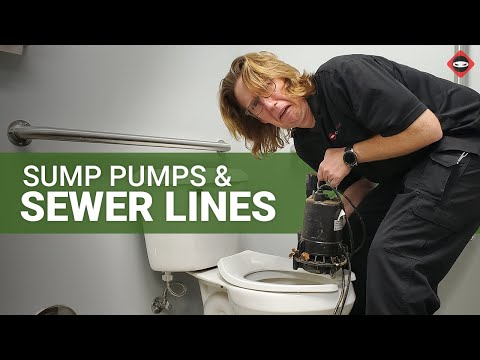 Can you Connect your Sump Pump Discharge Hose to the Sewer Line