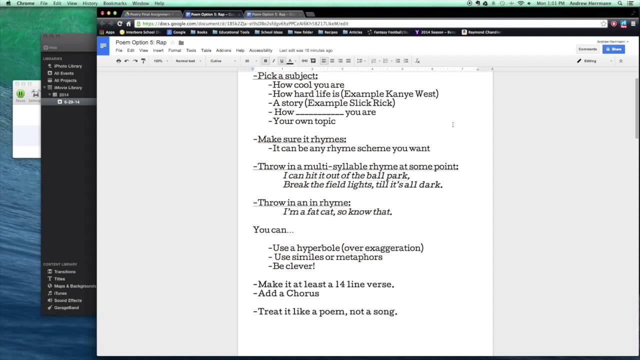 how to write rap