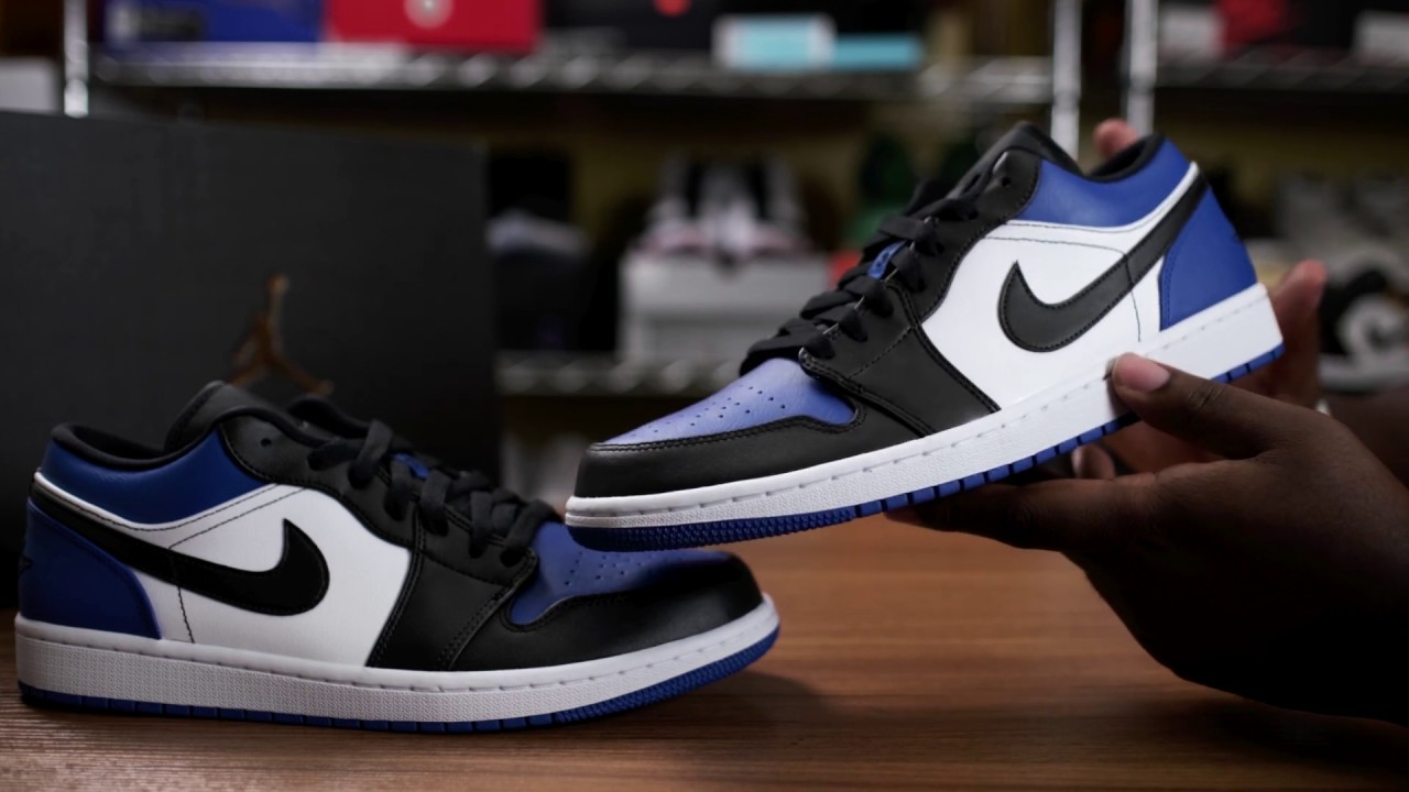 Royal Og Unboxing Nike Air Jordan 1 Low Royal Toe Fragment Full Review Youtube