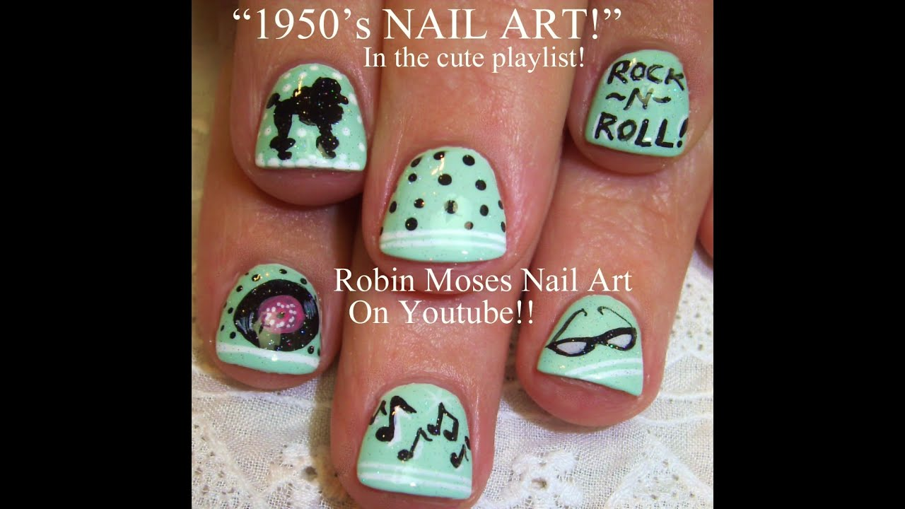 1950s inspired nail art tutorial youtube prinsesfo Gallery