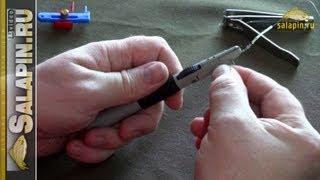 Приспособление для привязывания крючков и петлевязка [salapin.ru](В современном мире есть 2 устройства, облегчающие жизнь рыболову при вязании поводков. Это специальное..., 2011-03-30T17:34:24.000Z)