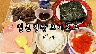횬짱 일본 브이로그  데마끼+맥주수육 집밥 일상 | 먹…