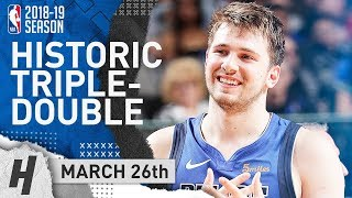 Luka Doncic MAKES History! Triple-Double Highlights vs Kings 2019.03.26 - 28 Pts, 12 Reb, 12 Ast