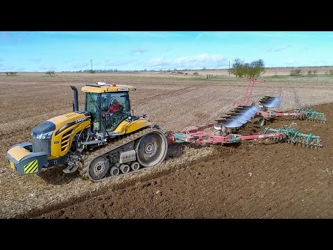 Challenger 775E Ploughing With Our 10 Furrow Plough