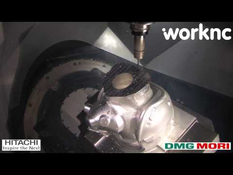 Pilot helmet 5 axis machining | WorkNC CAD-CAM