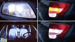 LADA Granta - замена всех ламп на светодиодные. LED доработка света заднего хода!