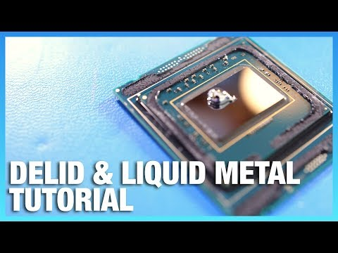 Skylake X i9 Delid & Liquid Metal Application Tutorial