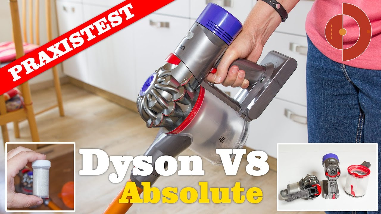 dyson v8 absolute test - was kann der neue akkustaubsauger? - youtube