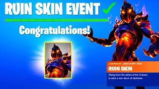 NEW RUIN SKIN EVENT LOCATION in Fortnite Season 8.. (Ruin is Coming Discovery Challenges)