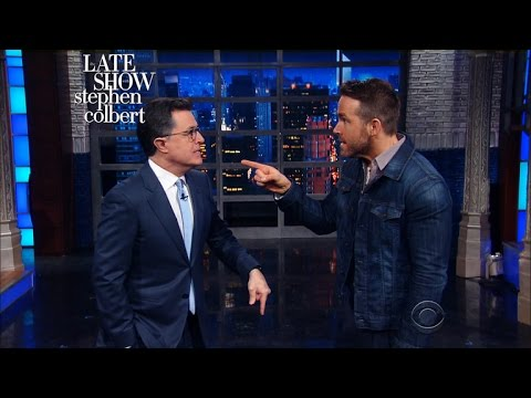 Ryan Reynolds Time-Travels Into Stephen's Monologue