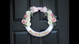 Pink and White Spring and Norooz Wreath