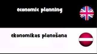 VOCABULARY IN 20 LANGUAGES = economic planning