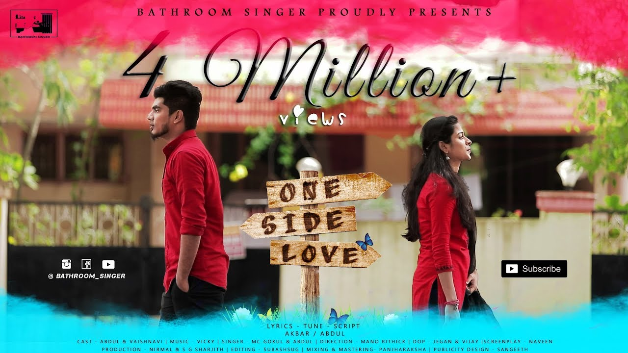 One Side Love Tamil Album Song Abdul Vaishnavi Vicky Musical