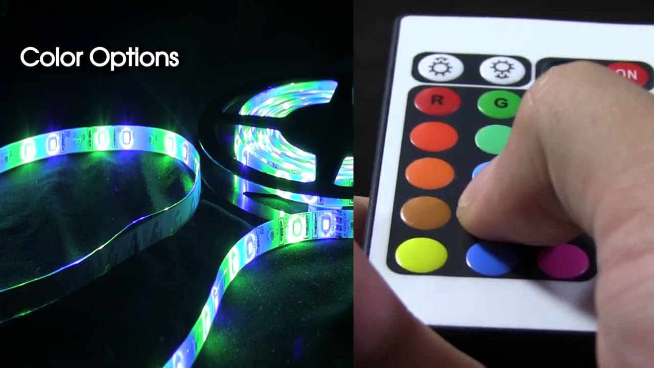 Led flexible light strip 16 ft 300 leds multi function with led flexible light strip 16 ft 300 leds multi function with remotemulticolor youtube aloadofball Gallery