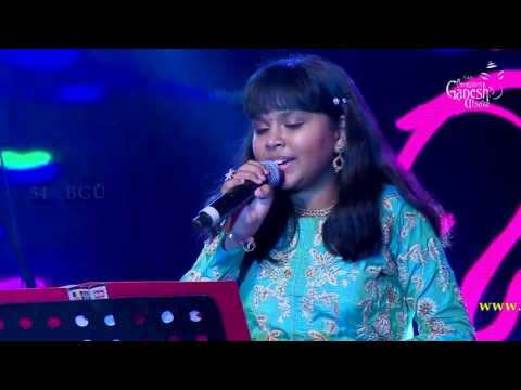 Anjana Padmanabhan singing Shreya Ghosal Kannada songs medley @ 54th Bengaluru Ganesh Utsava
