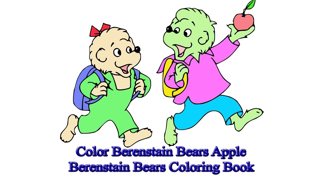 Color Berenstain Bears Apple   Berenstain Bears Coloring Book