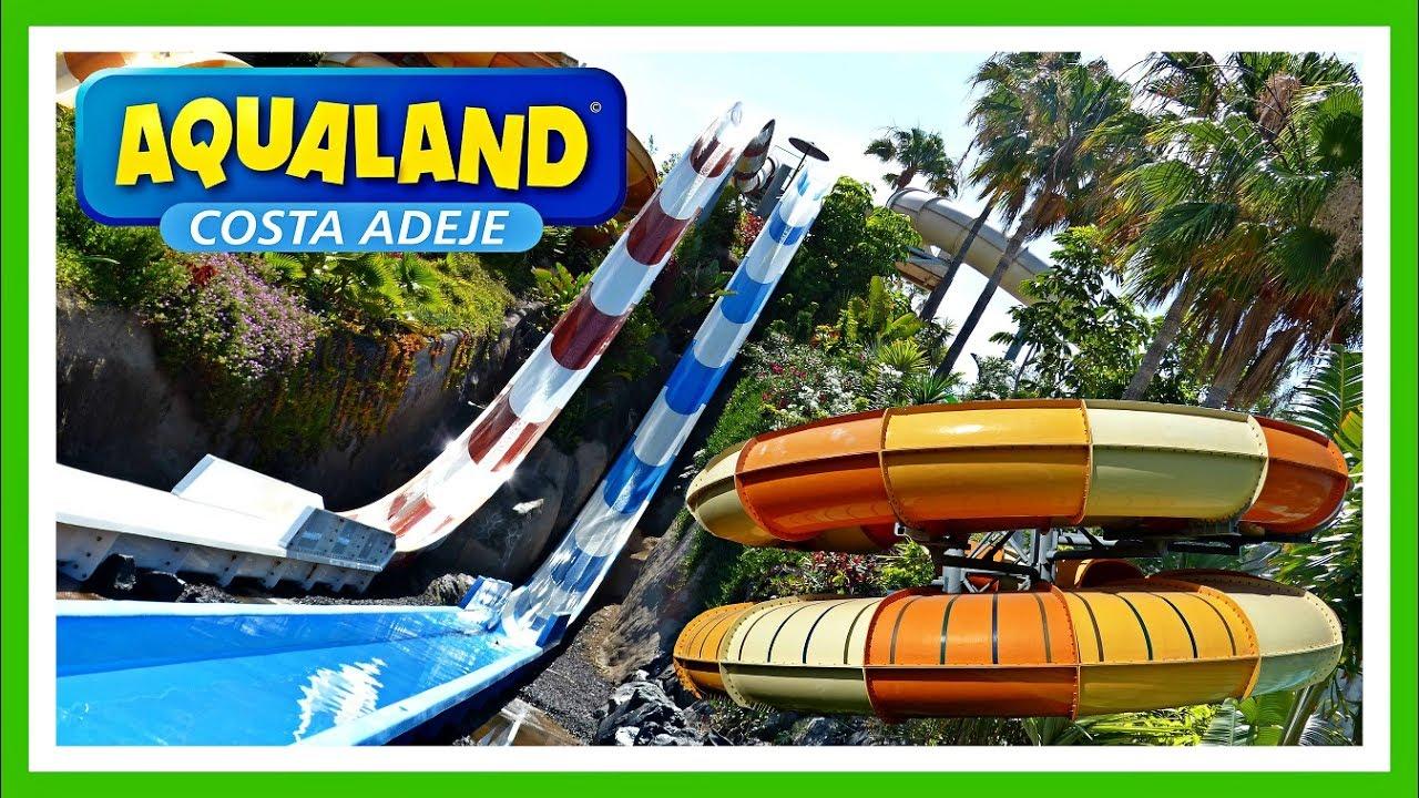 Aqualand costa adeje 2018 tenerife espa a spain water park youtube - Aqua tenerife ...