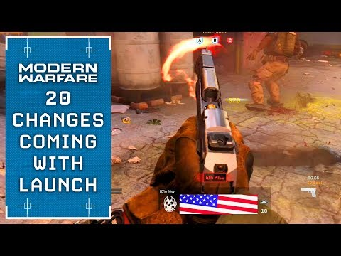 Modern Warfare: 20 CHANGES Coming To Launch