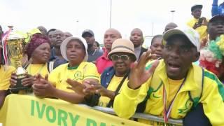 فيديو| جماهير جنوب إفريقيا تستقبل قاهر الزمالك