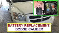 How to Replace battery on Dodge Caliber . Dodge Caliber Battery Replacement