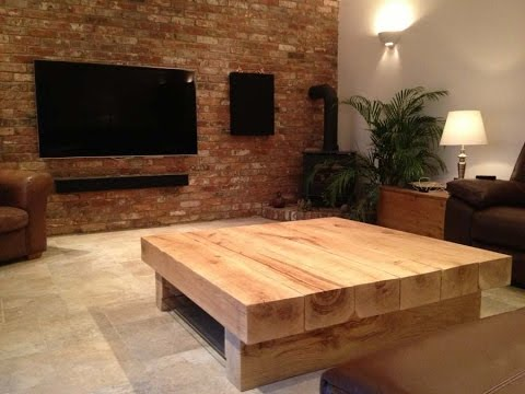 large square coffee table oak wood design uk