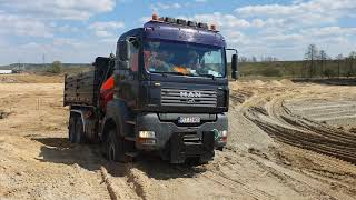Man TGA 6x6 33.480 hds palfinger pk13000 Zabawa w piasku :)