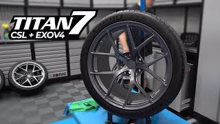 New Titan 7 TS-5 Wheels For The M3 - Coating & Tire Dressing