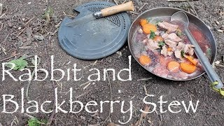 Rabbit and Blackberry Stew Cooked on a Wood Gas Stove. Canoeing with My Dog Maggie.