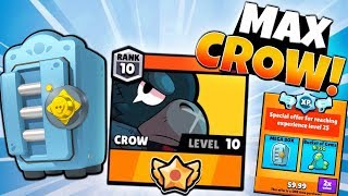 BIG MEGA BRAWL BOX OPENING & MAXING LEGENDARY CROW! | Brawl Stars | MAX BRAWLER CROW GAMEPLAY