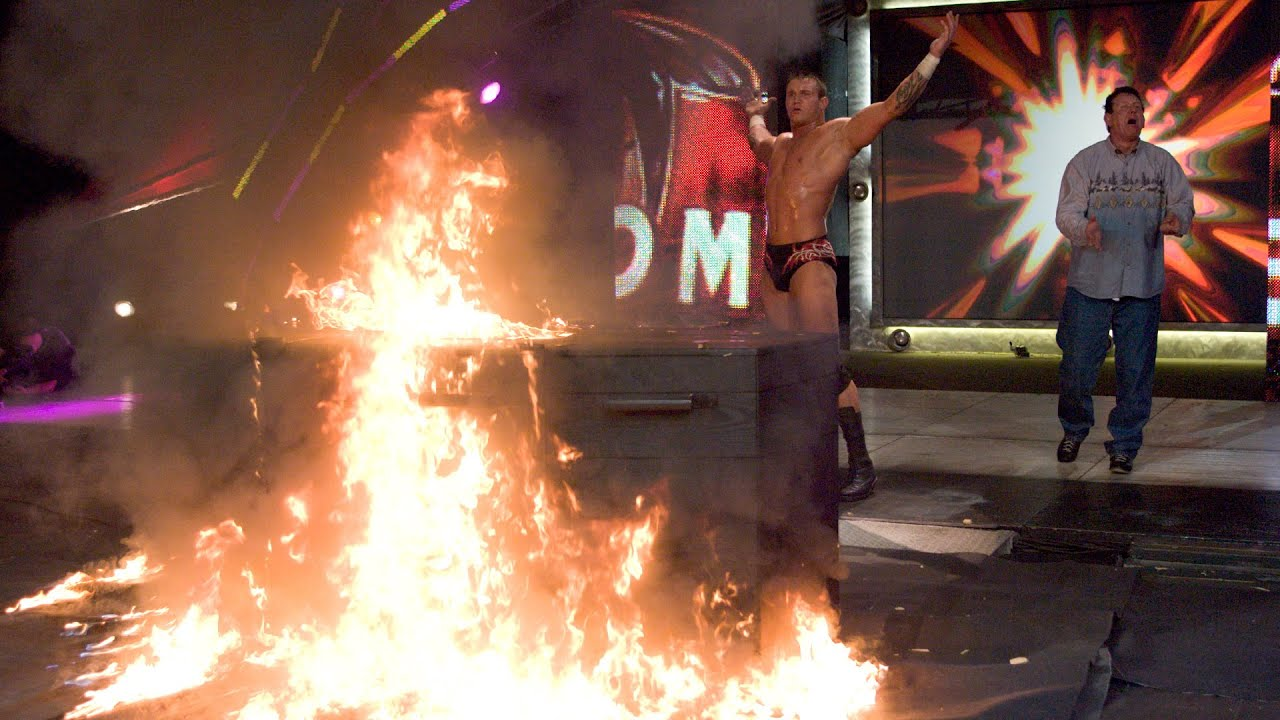 Randy Orton torches The Undertaker's casket: No Mercy 2005