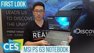 MSI PS63 Modern Laptop for Content Creators #CES2019