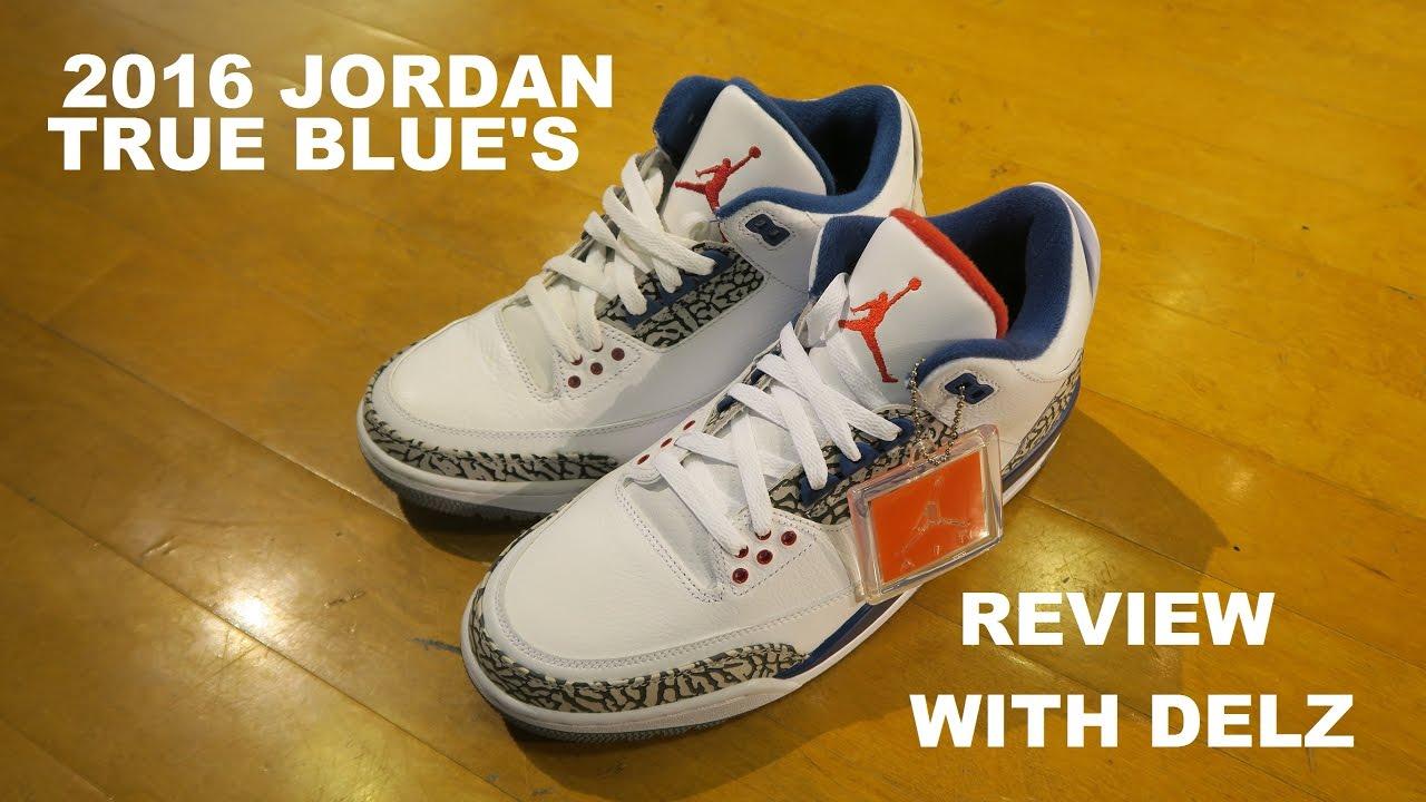 59ac698b0102 Air Jordan 3 True Blue 2016 Retro Sneaker Review + Comparison With the 2011