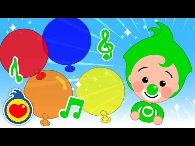 Popping Colored Balloons Family Finger Learn Colors Song #1 | Plim Plim