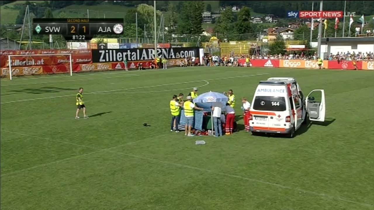 Download Abdelhak Nouri has collapsed to ground Werder Bremen vs Ajax 2-1