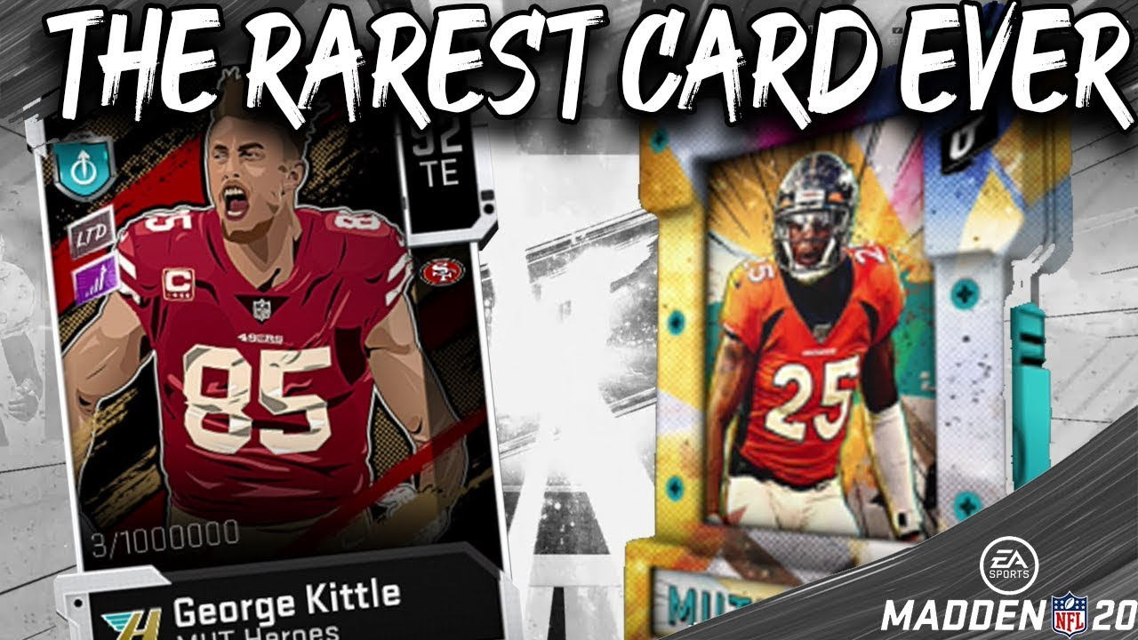 Pulling For The Rarest Card Ever Madden 20 Ultimate Team