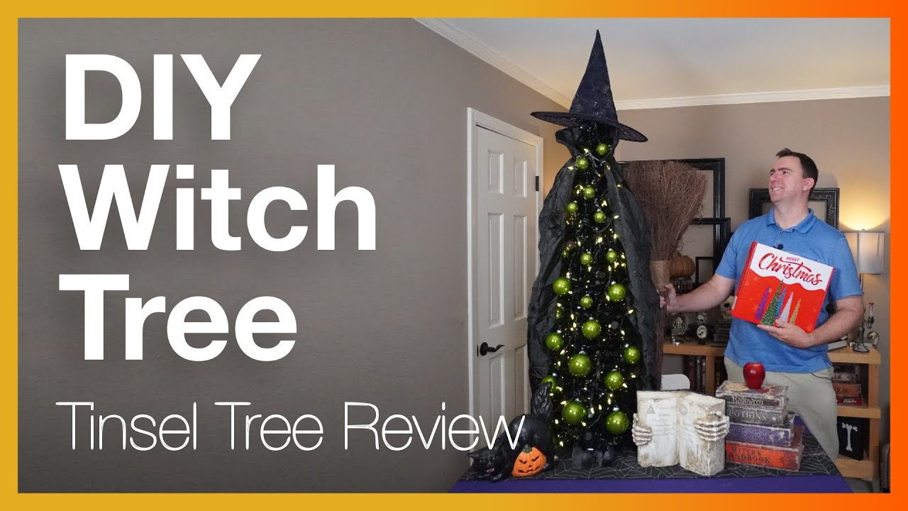Collapsible Halloween Tree (by N&T Nieting) Review & DIY  Let's craft this  to fit a witch theme!