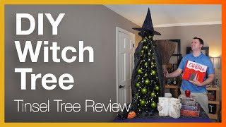 Collapsible Halloween Tree (by N&T Nieting) Review & DIY.  Let's craft this to fit a witch theme!