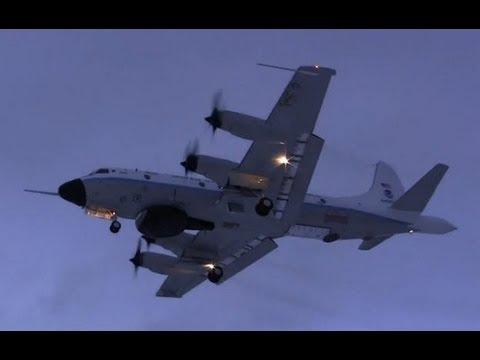 NOAA Lockheed WP-3D Orion Landing