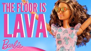 Floor is Lava Challenge in Public | Barbie