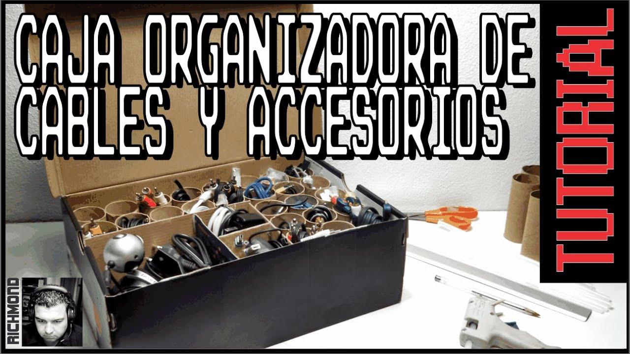 C mo hacer una caja para organizar cables y accesorios youtube - Caja para ocultar cables ...