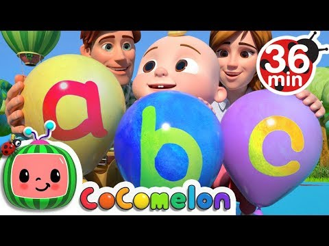 ABC Song with Balloons + More Nursery Rhymes & Kids Songs - CoCoMelon - Видео онлайн