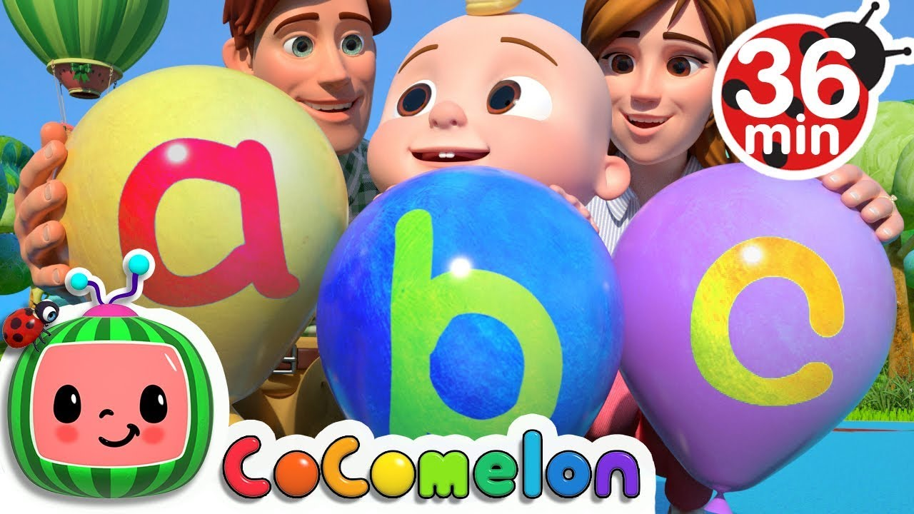 Abc Song With Balloons More Nursery Rhymes Kids Songs